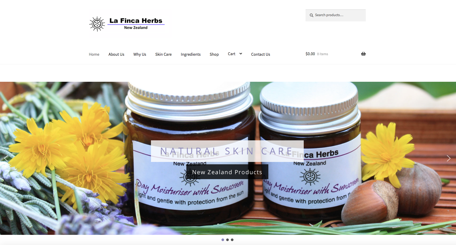 La Finca Herbs NZ website design