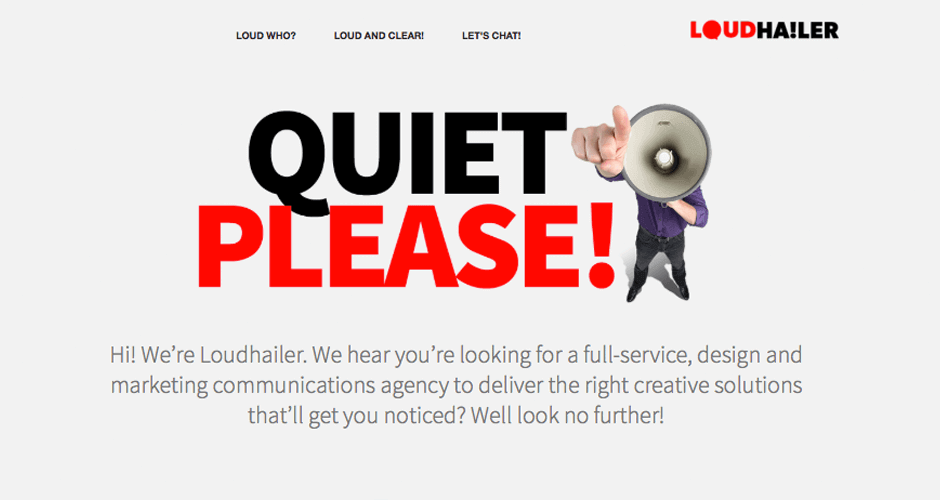 Loudhailer website design